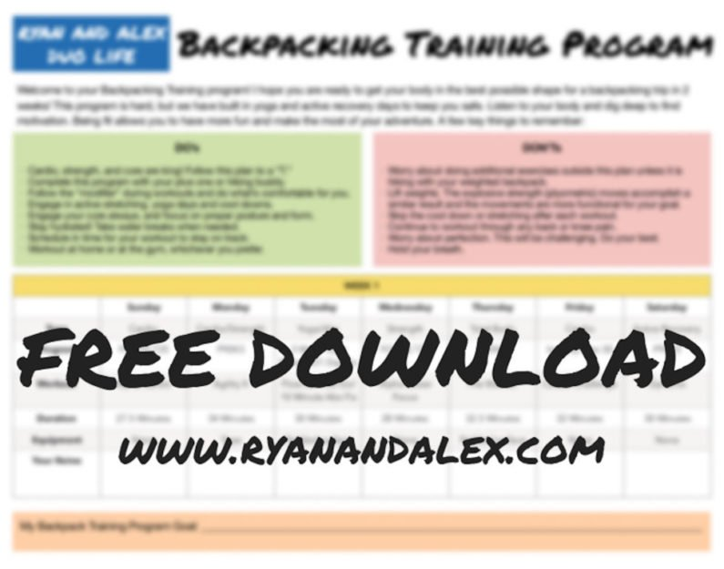 Backpacking 2-Week Fitness Plan - Train For Your Best Hike Ever